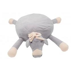 Pouf poney gris beige